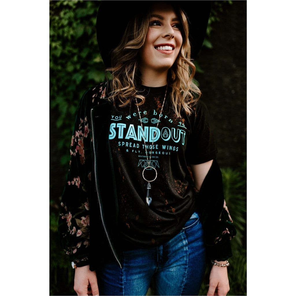 You were Born to Standout bleached tee