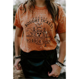 Horror Show Orange Bleached Tee
