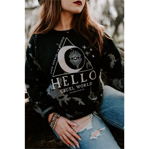 Hello Cruel World Bomba Sweatshirt