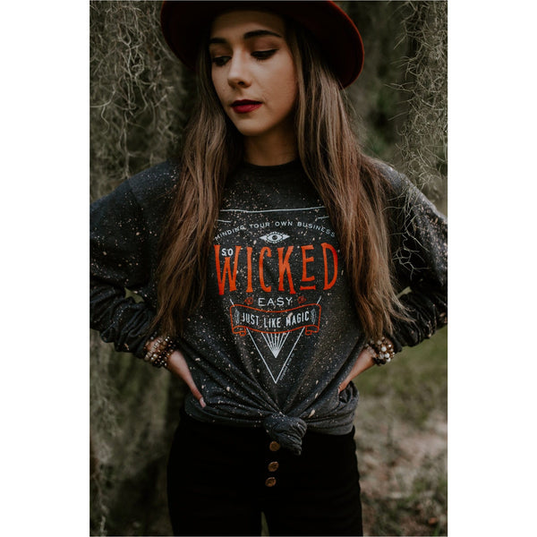 Wicked bleached charcoal longsleeve