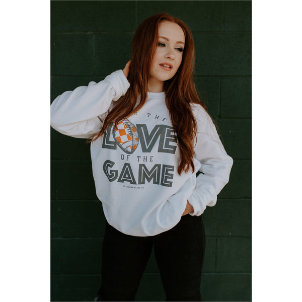 For the Love of the game TN white sweatshirt