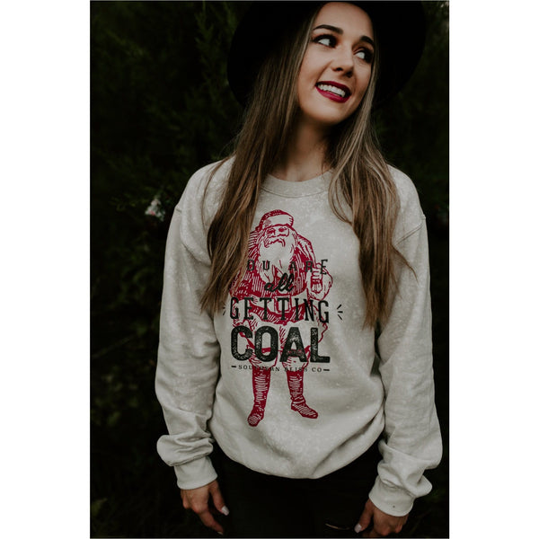 Getting Coal Sand Bleached Sweatshirt