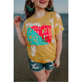 Radical beauty bleached yellow tee