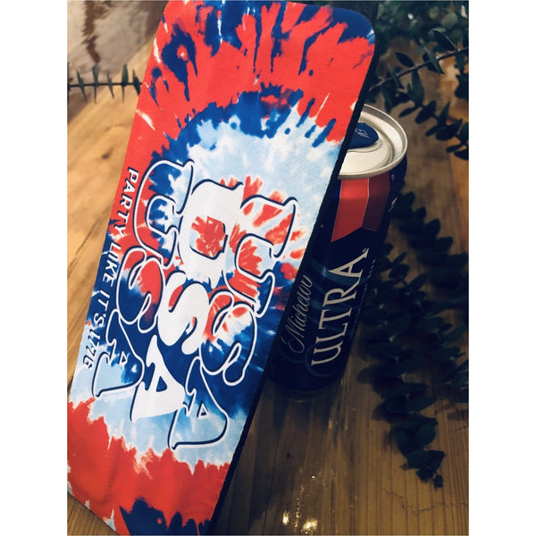 USA Tie Dye Slap Wrap Koozie