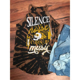 Silence the Noise Bleached Tank