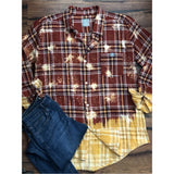 Rust bleached plaid