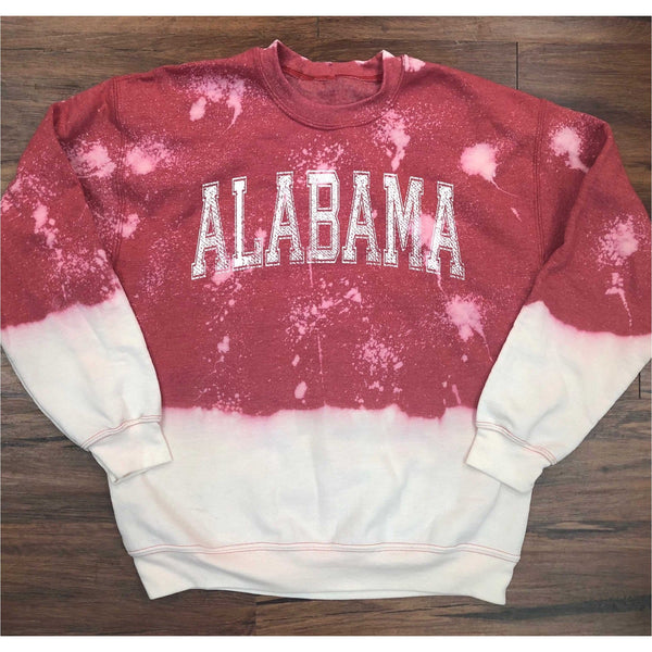 Alabama Bleached Heather Red Sweatshirt with White Print