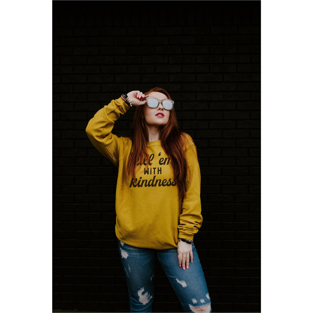 Kill 'Em With Kindness Ribbed Sweatshirt