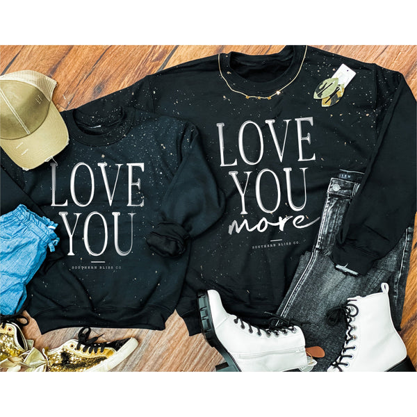 Love You YOUTH Bleached Sweatshirt