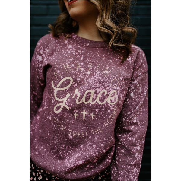 Amazing Grace Bleached Sweatshirt