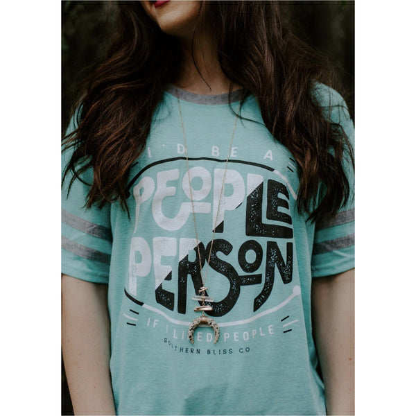 People Person Mint Jersey Tee