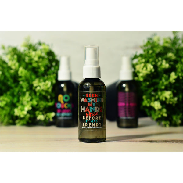 Spray Hand Sanitizer 2oz Bottle BLACK
