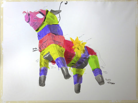 ORIGINAL DRAWING - Tacolicious: Piñata Sketch