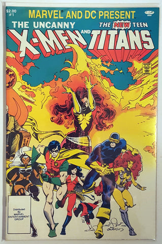 Uncanny X-Men and New Teen Titans #1 Marvel And DC Deathstroke