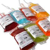 "Live ""Blood"" of Halloween Parties - Amazlab Re-usable Blood Bag Drink Container Set of 10"