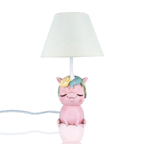 Unicorn Table Lamp with White Shade