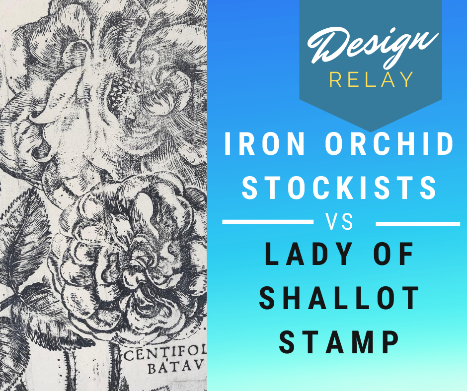 Join me on Facebook Friday August 21st for some Iron Orchid Lady of Shallot stamp relays