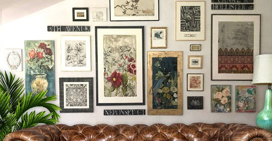 Make your own Art Gallery! Using Iron Orchid Design stamps, transfers, moulds and more!