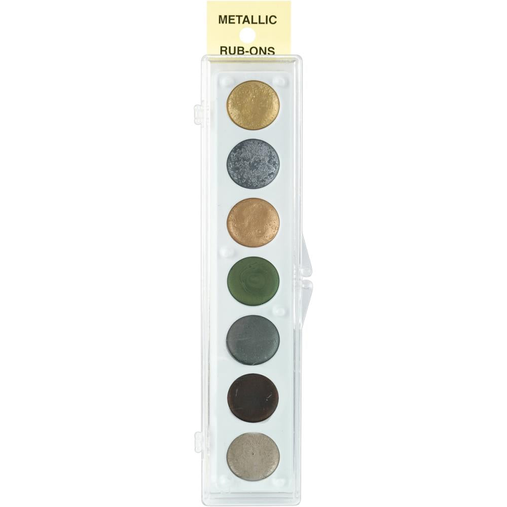 Metallic Rub-On Paint Palette - 7 Colors by Craf-T Products