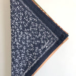 Hemlock Goods Jayne #6 navy and white floral banana 100% cotton