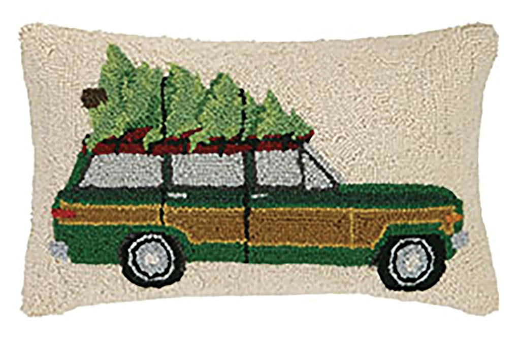 Jeep Woody With Tree and Blanket Hook Pillow
