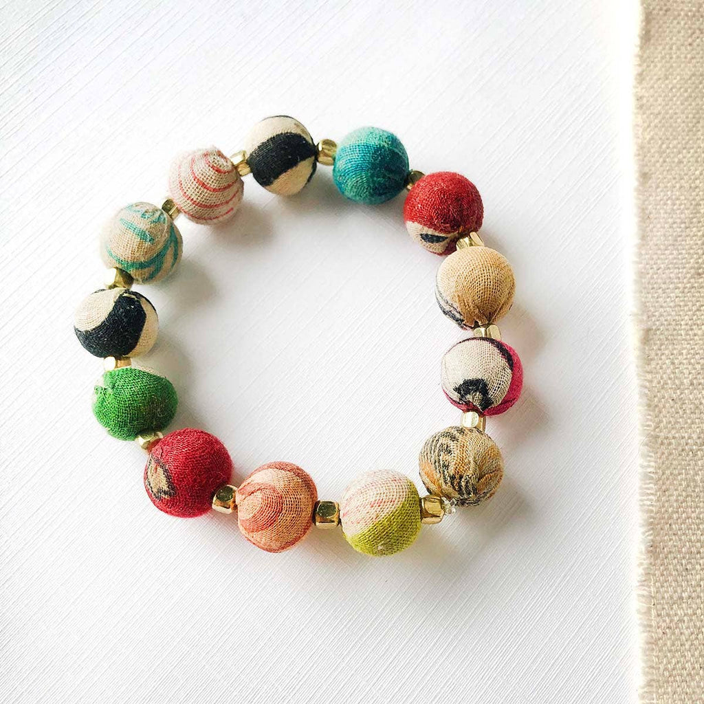 Small Kantha Bauble Bracelet