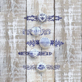 Iron Orchid Designs KNOB TOPPERS 12X12 DECOR STAMP for use with the Flexi Stamper