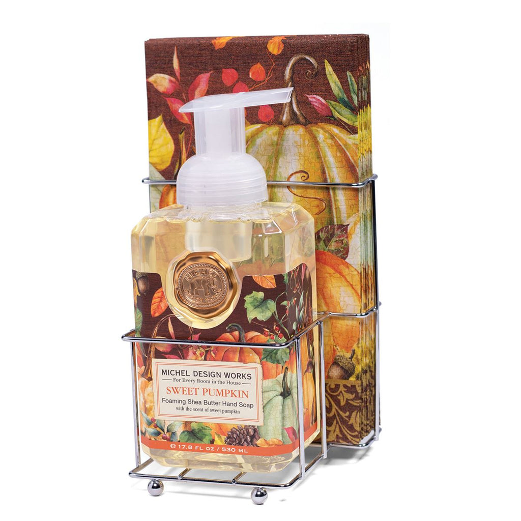 Michel Design Works Sweet Pumpkin Foaming Soap and Napkin set