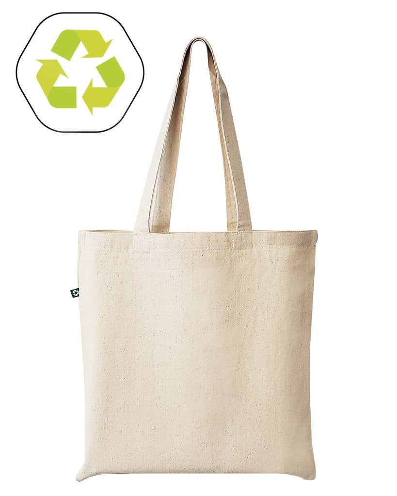 Eco Friendly Recycled Cotton Canvas Basic Tote Bags Great for stamping