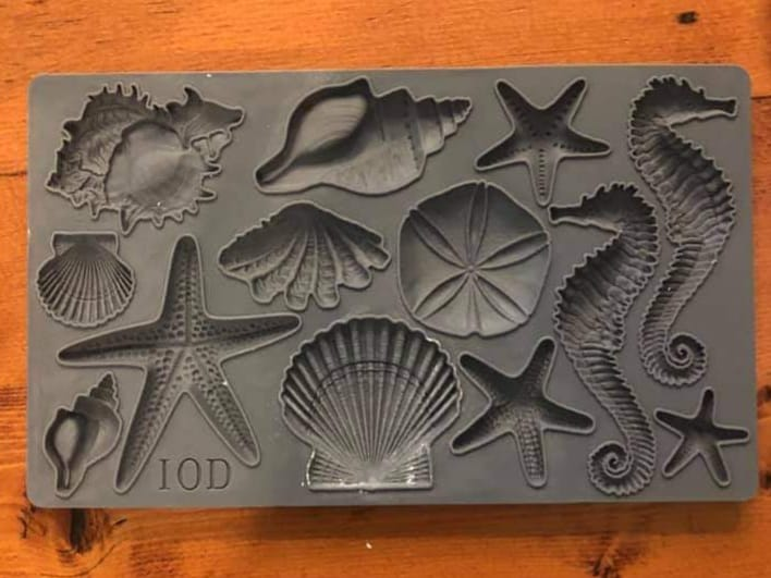 Iron Orchid Designs Sea Shells Decor Moulds 6 x10