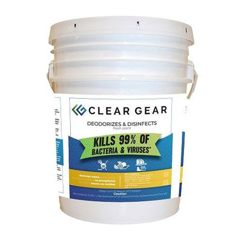 Clear Gear Disinfectant & Deodorizing Spray - 5 Gallon Pail