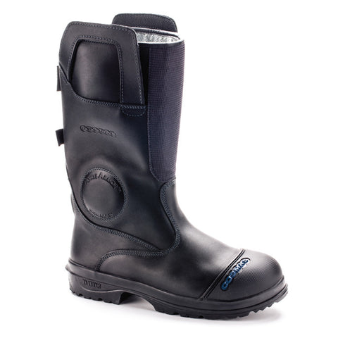 "Cosmas Titan 14"" Leather Structural Bunker Boot"