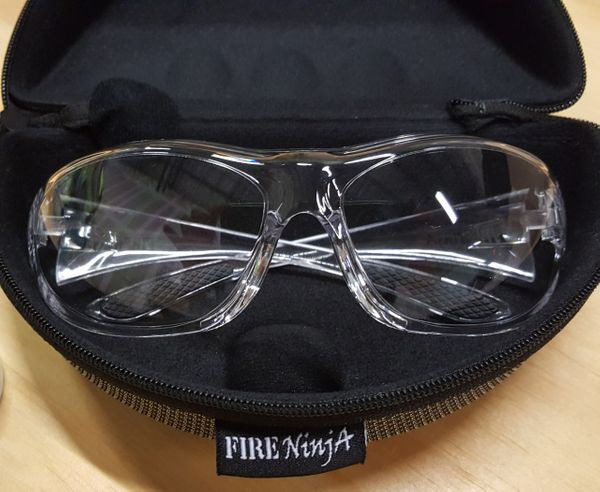 Fire Ninja Edge 360 (clear) Safety Glasses