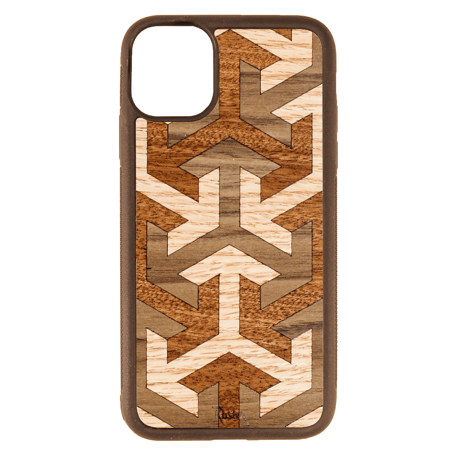 Axis Wood Inlay iPhone 11 Case