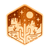 Moonlight Mesa Wood Sticker - Rustek