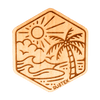 Palm Island Wood Sticker - Rustek