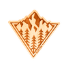 Peaking Wood Sticker - Rustek