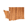 Geo Washington Wood Sticker - Rustek