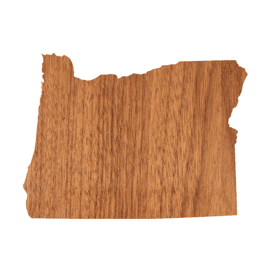 Geo Oregon Wood Sticker
