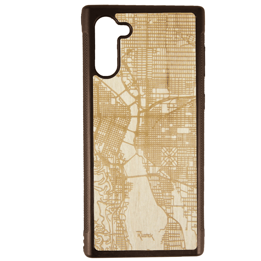 PDX Map Engraved Samsung Galaxy Note 10 Case