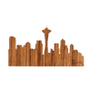 Seattle Skyline Wood Sticker