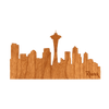 Seattle Skyline Wood Sticker - Rustek