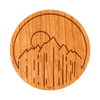 Sunset Mountain Wood Sticker