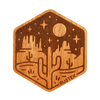 Moonlight Mesa Wood Sticker