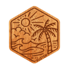 Palm Island Wood Sticker