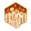 Foothill Falls Wood Sticker - Rustek