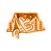 Camping InTent Wood Sticker - Rustek