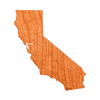 Geo California Wood Sticker