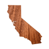 Geo California Wood Sticker - Rustek