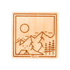 Base Camp Square Wood Sticker